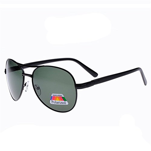 Z-P New Style Retro Metal Men's Fishing Driving Polarized Lens Big Frame Sunglasses 60MM
