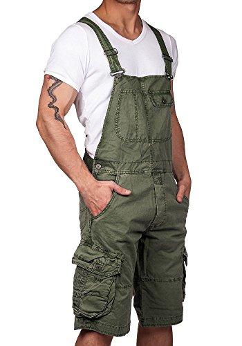 Jet Lag Herren Latzhose Overall Shorts olive M