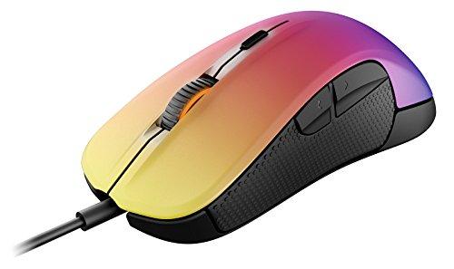 SteelSeries Rival 300 Optische Gaming-Maus (6 Tasten, Gummierte seitliche Griffflächen) - CS:GO Fade