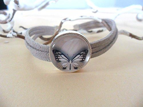 Armband, Velours, Cabochon (Velour Armband)