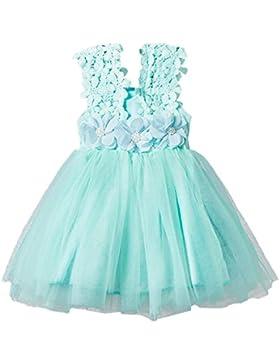 Vestito Da Principessa Senza Maniche In Tulle Pizzo Principessa Vestito Mini Abito Vestito Estivo Per Bambini