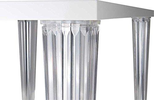 Fiesta Langer Schicker Bauhaus Büro- Konferenztisch Esstisch mit Transparenten Plexiglass Beinen....