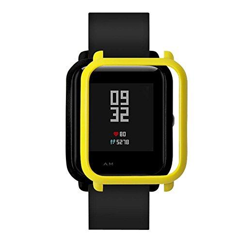 samLIKE Dünner bunter PC Kasten Abdeckung schützen Shell für Huami Amazfit schlagen Jugend Uhr (Gelb)