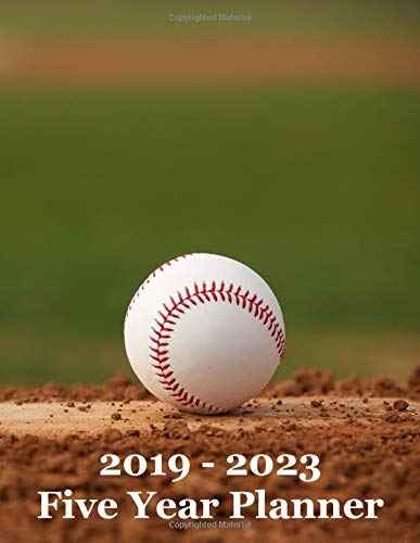 2019 – 2023 Five Year Planner: Baseball on Pitcher's Mound Cover – Includes Major U.S. Holidays and Sporting Events por YAY Journals