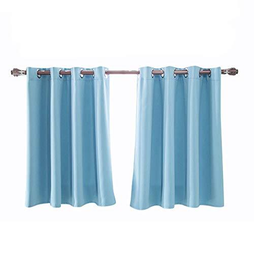 Hukz Rideaux occultants monochromes élégants et de haute qualité, doublés de mousse isolée épaisse, avec doublure en mousse épaisse, pour fenêtre (L x l x H) 150 x 90 cm, bleu, L x W: 150cm x 90cm