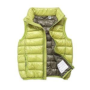 ZhuikunA Leichte Daunenweste Jungen Mädchen, Winddicht Packbar Im Freien Steppweste mit Taschen, Winddicht&Wasserdicht ärmellose Jacke