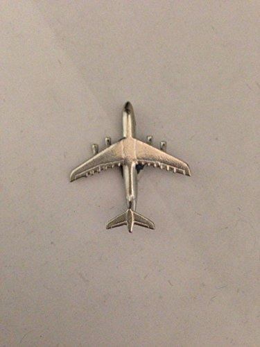 GIFTSFORALL Lockheed C-5 Galaxy Flugzeug Luftfahrt Flugzeug Code C9 aus massivem feinem englischen Zinn Anstecknadel von Derbyshire UK