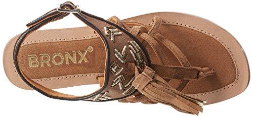 BronxBiksaX - Sandali a Punta Aperta donna Marrone (Braun (274 Mid brown/bronze))