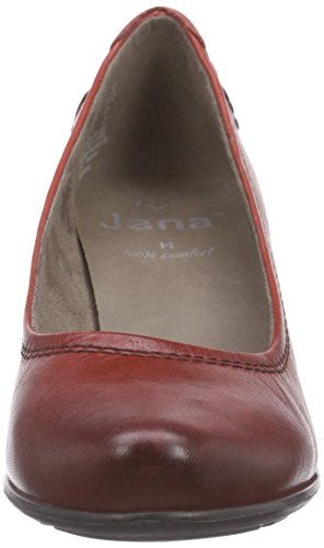 Jana  22404, Escarpins femme Rouge - Rouge pâle