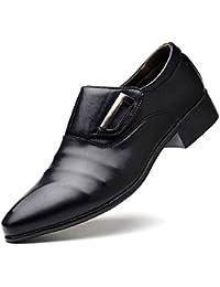 Tela de Lona de Negocios para Hombres/Zapatos de Cuero Artificiales de la PU Zapatos