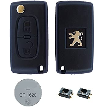 Replacement 2 Button Flip Key Holder for Peugeot 207/307/407