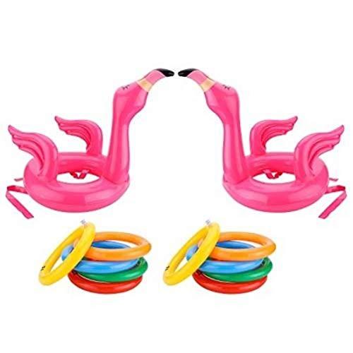 iuNWjvDU Haus- und InflatableRing Toss Spiel, InflatableHat mit 4-Wurf-Ringen Für Erwachsene Familien-Pool-Party Spiel Spaß Dekoration -