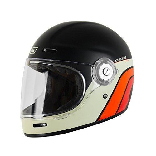 Casco Integrale Fibra Vetro Origine Vega - Café Racer (M ( 57-58 CM ), Classic Black)