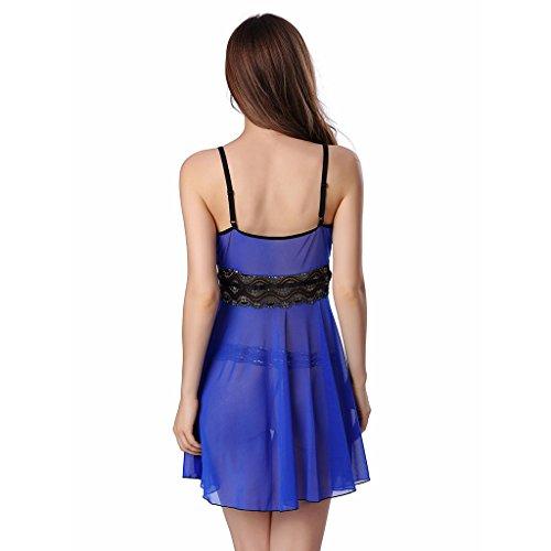 Ailin home- Europa und die Vereinigten Staaten Fun-Pyjamas (mehrfarbige Multi-Size-Option) Blau