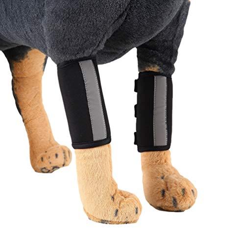 YiiJee Verletzung Schutzhülle Kniepolster Hund Leggings Schutz Hundebeine Pet Protectors Dog Surgery (Schwarz #2, S)