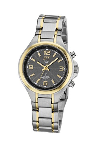 ETT Eco Tech Time Funk Solar Damen Uhr Analog mit Edelstahl Armband ELS-11178-51M