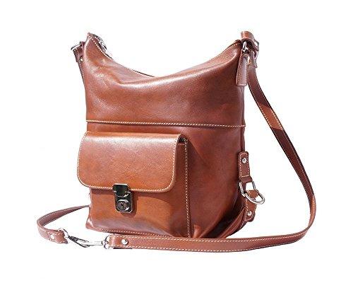 Florence Leather 207, Borsa a zainetto donna Black, Dark Brown (marrone) - 207 Tan
