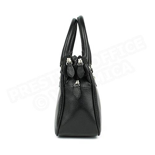 Mini sac Monaco cuir Fabrication Luxe Française Noir