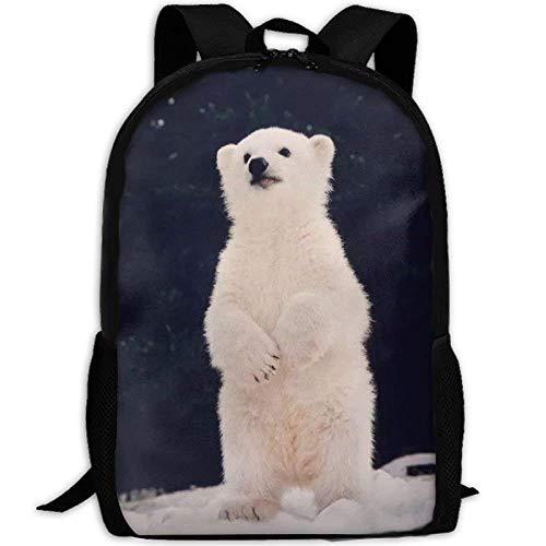 HOJJP Schultasche Laptop Backpack for Women Men Polar Bear Baby Student Backpack - Womens Polar Bear