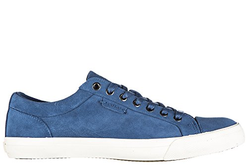 Polo Ralph Lauren Chaussures Baskets Sneakers Homme en Daim Blu