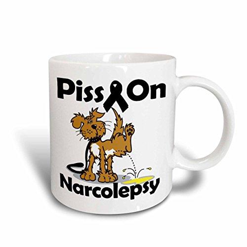 3dRose Piss auf narkolepsie Bewusstsein Band verursachen Design Tasse, Keramik, weiß, 11,43x 8,45x 12,7cm -