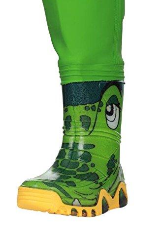 Kinder Wathose Kinderwathose LUCKY DUCKY PRO- VERSTELLBARE TAILLE 9 Modelle SEPARATOR HARNESS , Matschhose Crocodiles Pro Green