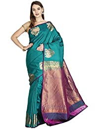 The Chennai Silks - Kanjivaram Silk Saree - Blue Grass - (CCMYSS6316)