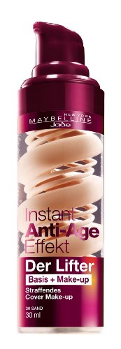 Maybelline New York Instant Anti-Age Der Lifter - 2in1 Basis + Make-Up 30 Sand, 30 ml (Der Lifter)