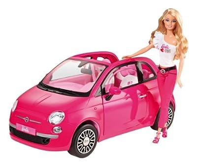 Barbie - Coche Fiat, color rosa (Mattel Y6857) de Mattel