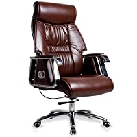 ADHKCF Antique Style Executive Manager Directors Office Desk Chair Luxury Pu Leather High Back Directors Chesterfield Furniture Recliner