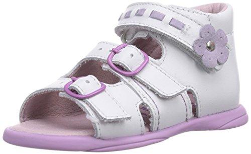 Däumling  Benny, Chaussures premiers pas pour bébé (fille) Blanc - Weiß (Astrale weiß71)