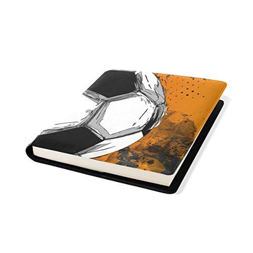 COOSUN Grunge Farbe Voll Fußball-Buch Sox dehnbare Buchdeckel, geeignet für die meisten Hardcover Lehrbücher bis zu 9 x 11. leimlose, PU-Leder-Schule-Buch-Schutz 9-x-11-Zoll mehrfarbig (Fußball-sox)