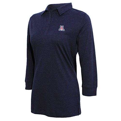 eeve Jersey Polo, Damen, Women's 3/4 Sleeve Jersey Polo, Heather Blue, XX-Large ()