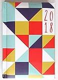 2018Agenda semainier rembourré à couverture rigide Triangles–Poche