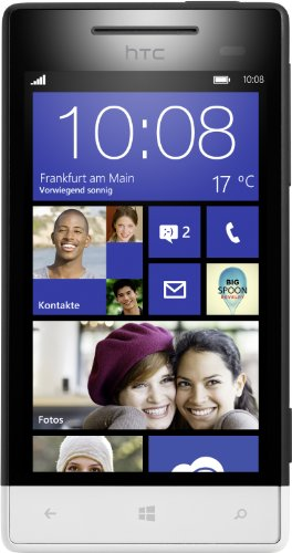 HTC Windows Phone 8S Smartphone (Qualcomm 1 GHz S4 Prozessor, 10,2 cm (4 Zoll) Touchscreen, 5 Megapixel Kamera, 512 MB RAM) Domino (Windows Htc Phone)
