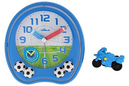 Niños despertador Fútbol Azul niño sin tic tac