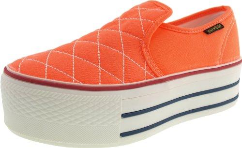 Maxstar C50 basse-dessus de la plate-forme antidérapante Ons Baskets chaussures Orange - Orange fluo