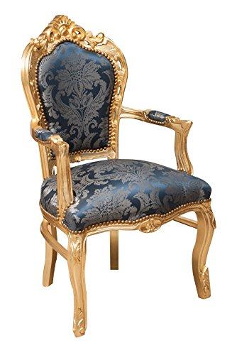 Fauteuil style français Louis XVI en bois massif de hêtre l60 x PR60 x H107 cm