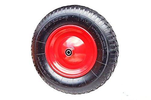Preisvergleich Produktbild Schubkarrenrad Schubkarre Rad Luftrad Felge Rot 4.80 / 4.00-8 Achsbohrung: 20mm