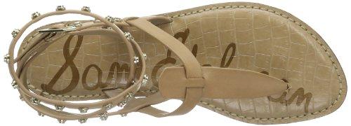 Sam Edelman Gabriela, Scarpe Col Tacco con Cinturino a T Donna Beige (Beige (classic nude vaquero saddle leather))