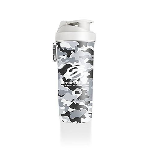 SmartShake Lite Camo Shaker Cup, 1 Litre, White
