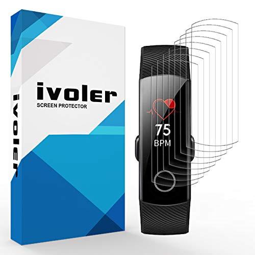 VGUARD [Pack de 8] Protection écran pour Huawei Honor Band 4 / Huawei Honor Band 5, Couverture Complète [Liquide Installation] [Anti-Rayures] [sans Bulles] TPU Film Protecteur HD Transparent