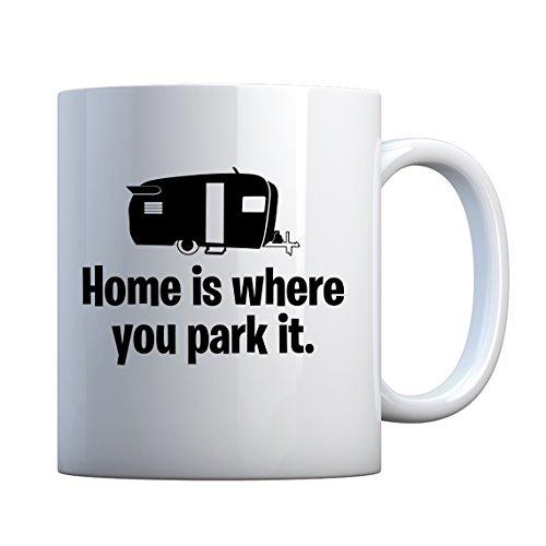 Indica Plateau Home est là où vous le parc en céramique Mug cadeau 11oz blanc nacré