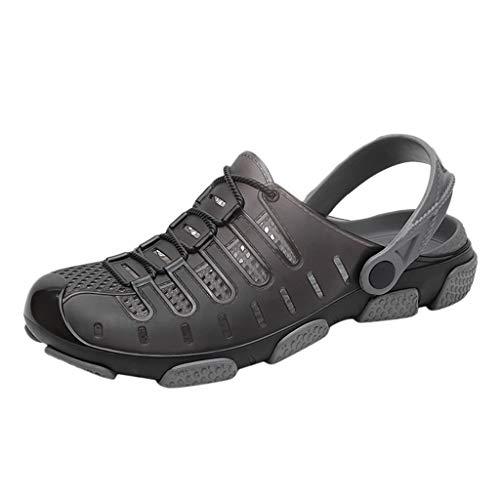 AIni Herren Schuhe,Mode 2019 Neuer Heißer Beiläufiges Slipper Strandschuhe Außenrutschen Loch Sandalen Strand Partyschuhe Freizeitschuhe(41,Schwarz)