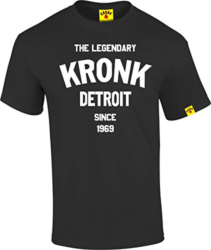 The Legendary Kronk Detroit since '69 mens short sleeve t shirt regular fit cotton BLACK xlarge