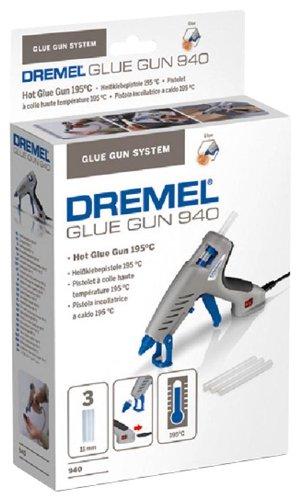Preisvergleich Produktbild Dremel Heißklebepistole 940-3 (3x Zubehör, 60 Watt)