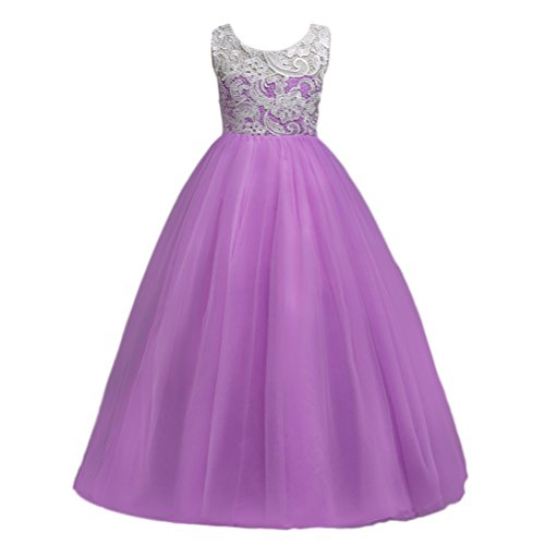 Zhhlaixing Big Girls Lace Bridesmaid Dress Long Wedding Pageant Dresses Tulle Party (Size Wedding Plus Dresses)