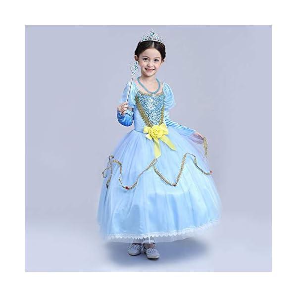 Vicloon Nuovi Costumi da Principessa set di 8 pezzi Dono da Tiara,Guanti,Bacchetta Magica, Anello, Orecchino,Collana da… 4 spesavip
