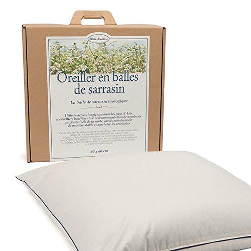 Mille Oreillers - Oreillers de sarrasin bio - - 60 x 60 cm