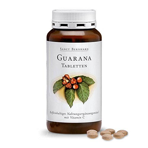 Guarana-Tabletten mit Guarana, Vitamin C 250 Tabletten